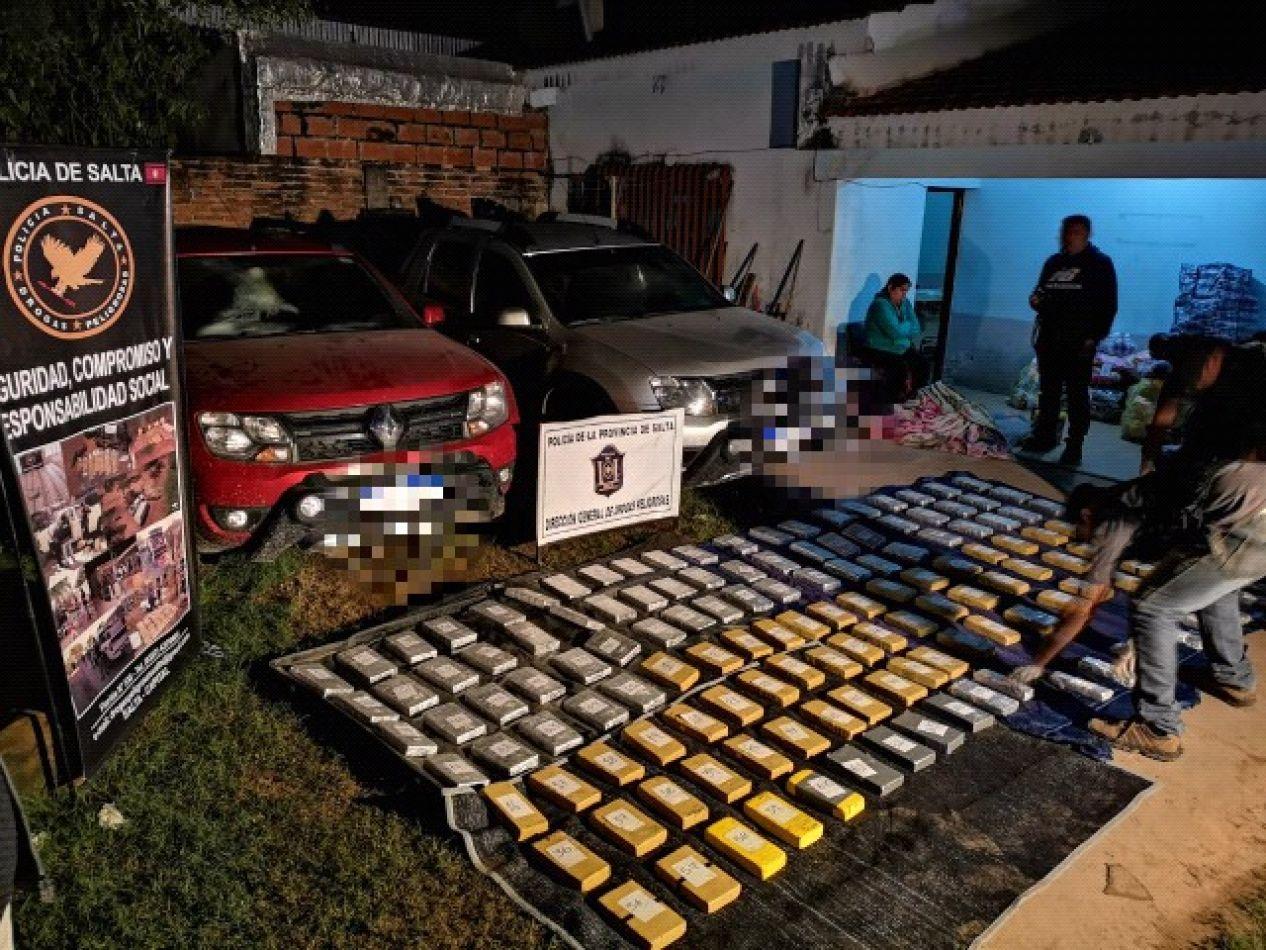 Secuestran más de 143 kilos de cocaína en Pichanal