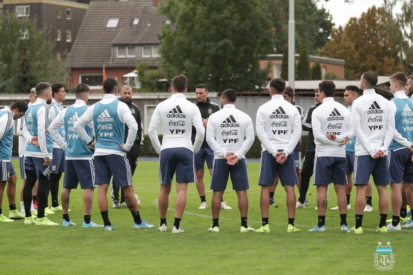 La Selección Argentina se prepara para el amistoso con Alemania