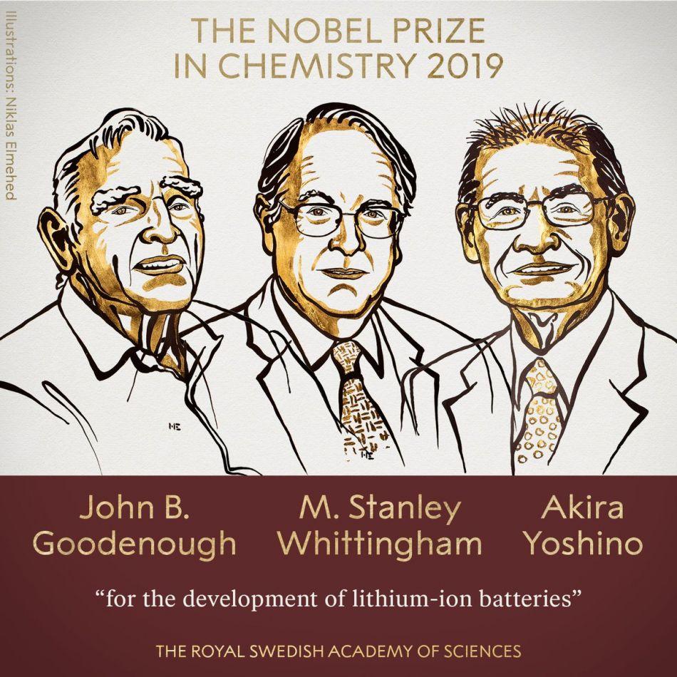 Los desarrolladores de las baterías de iones de litio se quedaron con Nobel de Química