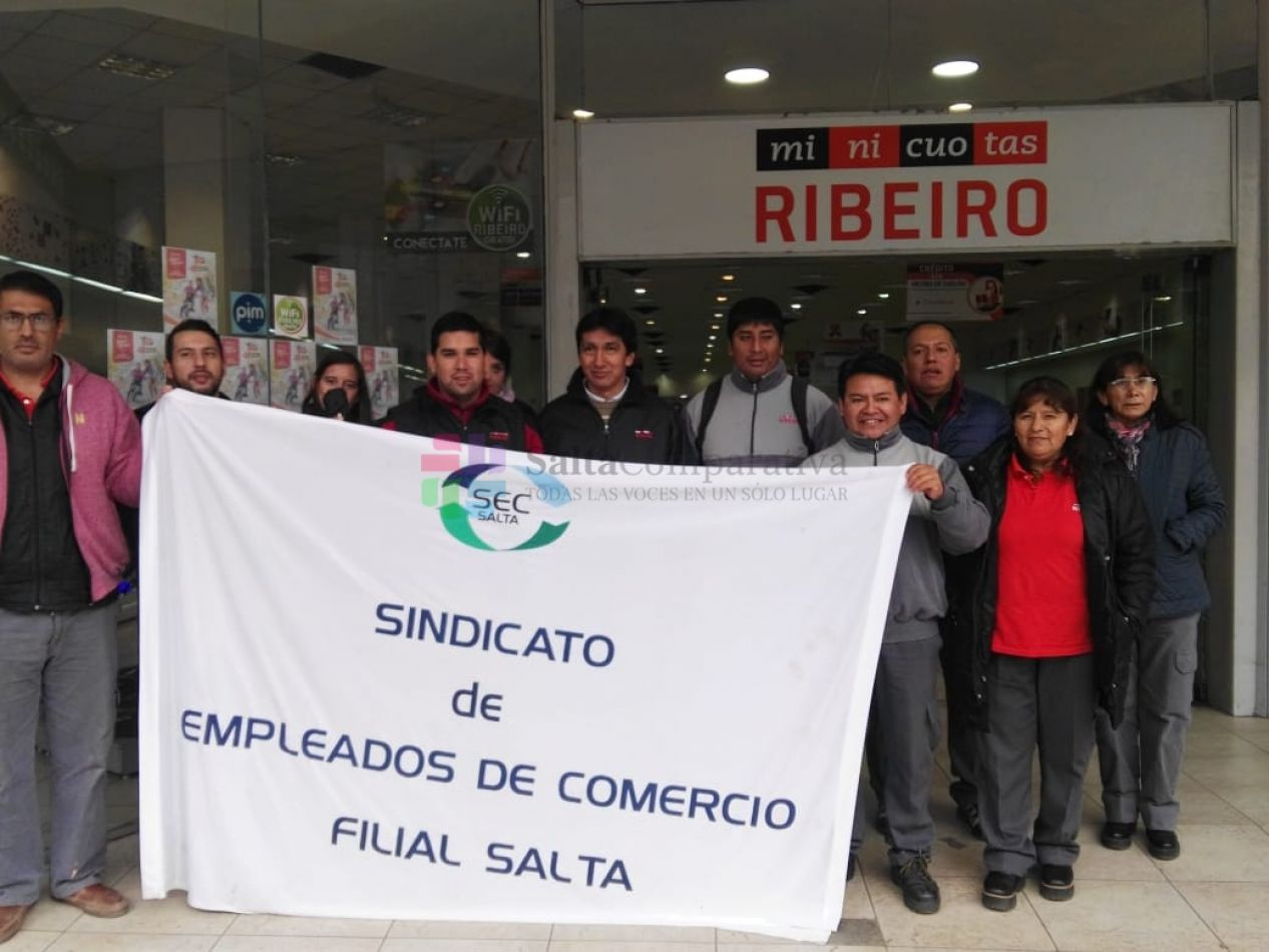 Empleados de Ribeiro de paro en toda la provincia