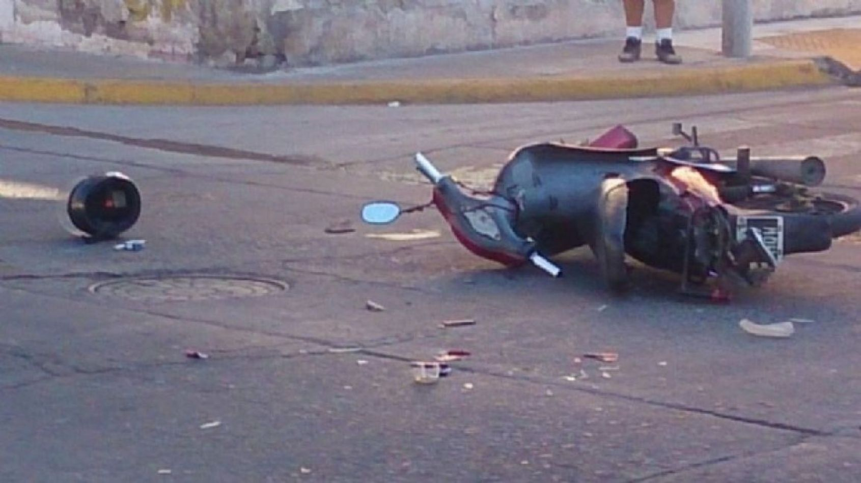 Motociclista murió tras un siniestro vial
