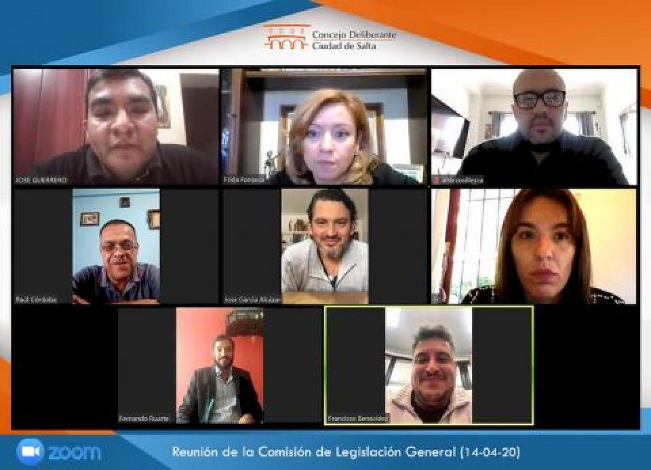 Concejales sesionan de manera virtual en Salta