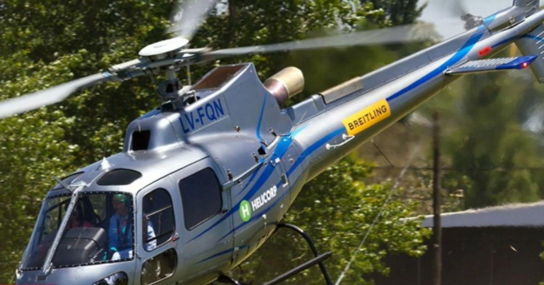 Así quedó el helicóptero donde viajaba Jorge Brito