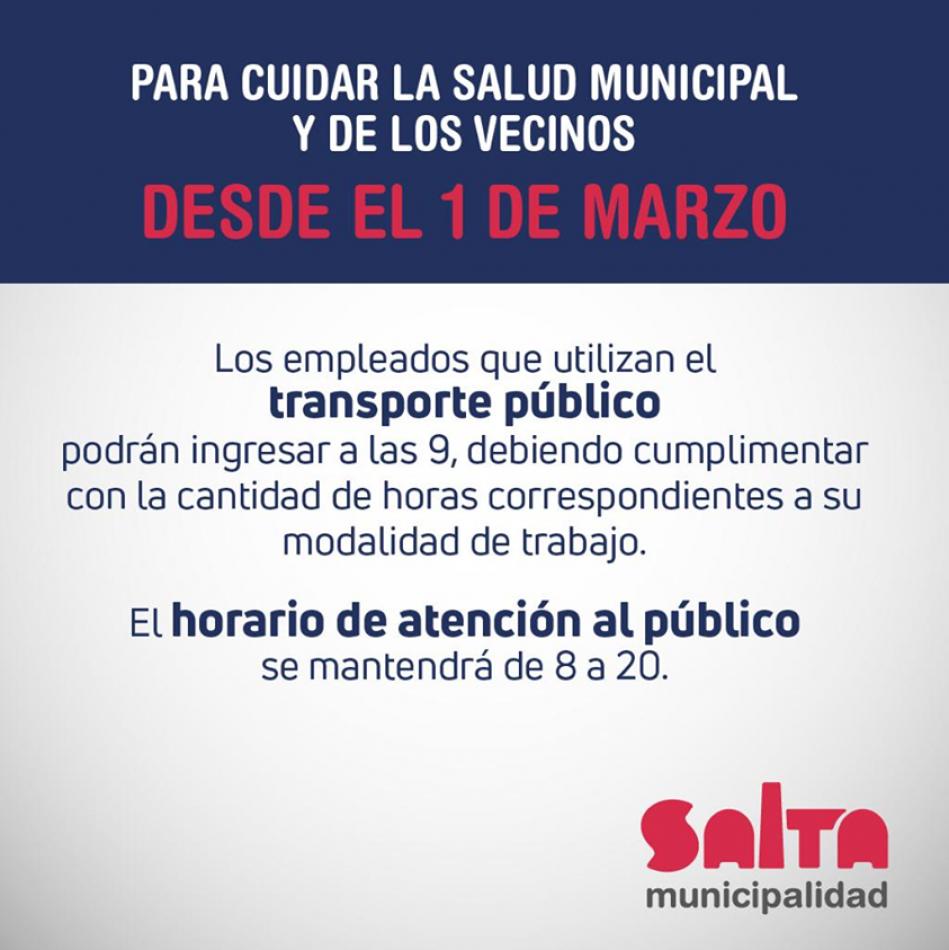 La Municipalidad dará una hora de tolerancia a los empleados que usan colectivos