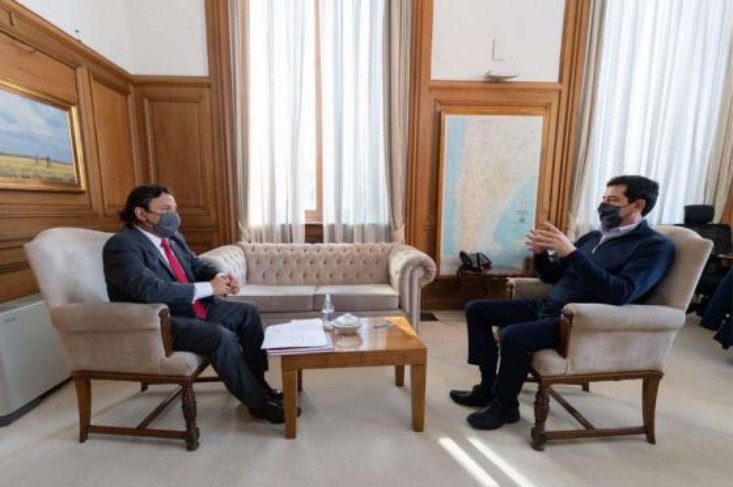 Gustavo Sáenz se reunió con Wado de Pedro ministro del Interior