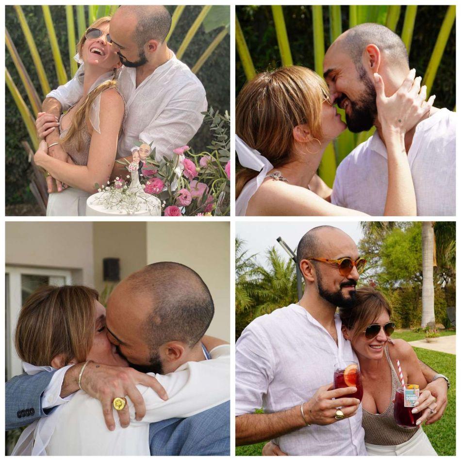 Abel Pintos y Mora Calabrese se casaron en secreto